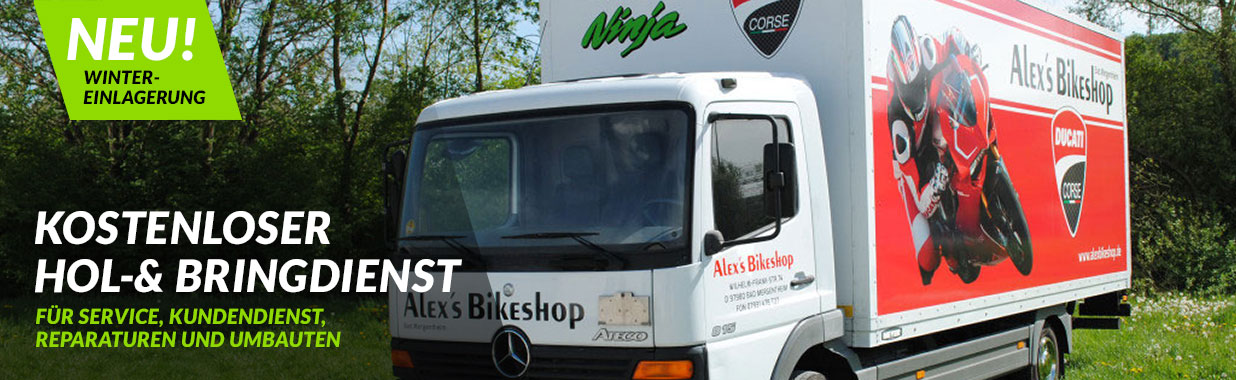 Alex's Bikeshop - kostenloser Hol- und Bringservice
