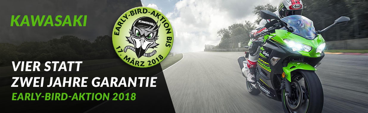Alex Bikeshop - Kawasaki Early Bird Aktion 2018