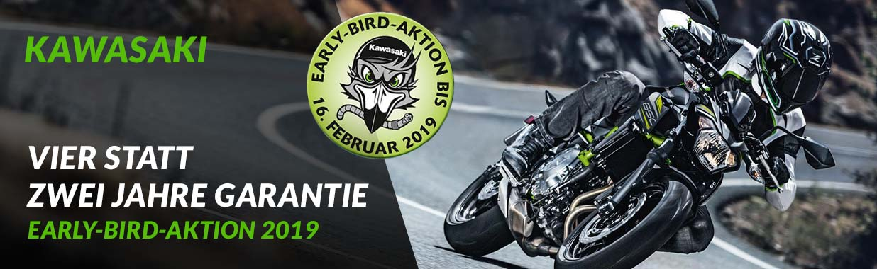 Alex Bikeshop - Kawasaki Early Bird Aktion 2019